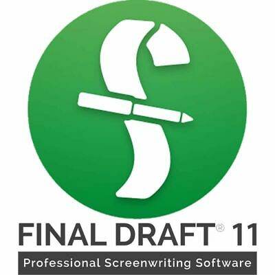 Final Draft 11 Screenwriting Software (Download) - Accepting Reasonable Offers