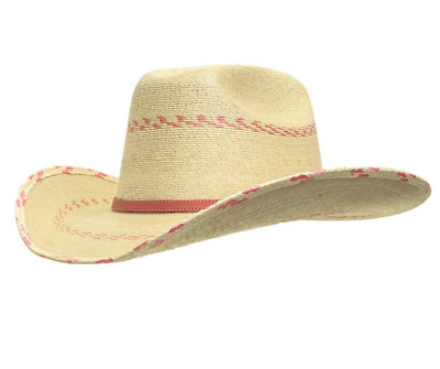 972f38f999c ATWOOD Hat Company Girls Kids Pink Pinto Tight WOVEN STRAW Cowboy Cowgirl  Hat