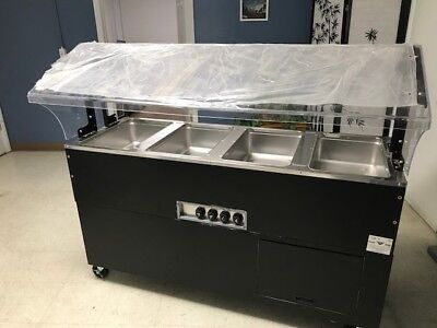 Commercial RESTAURANT STAINLESS PORTABLE Electric Buffet Table NEW BSW4-120-B-SB