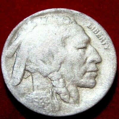 1924D BUFFALO NICKEL VF Details RB2810 55c Shipping,FREE SHIPPING on 3 or more**