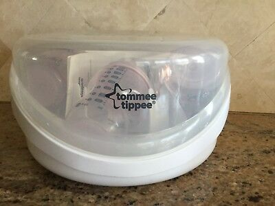 Tommee Tippee Closer to Nature Microwave Steam Sterilizer-Plus 4 Bottles
