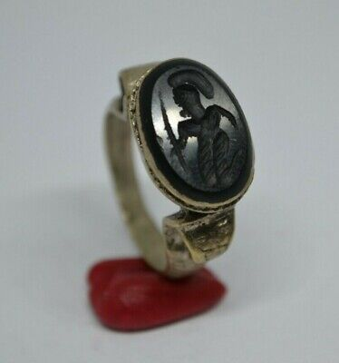 Rare Ancient ROMAN Silver-Bronze RING 9-10 AD century ARTIFACT Magnificent RING