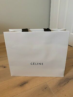 "0f2b8d8679 Authentic Celine Paper Shopping Gift Bag 17x14"" (See Pictures For Details)"