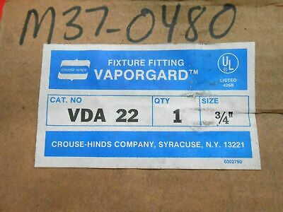 "Crouse Hinds Vda22 Vaporgard Light Fixture 3/4""- Nib"