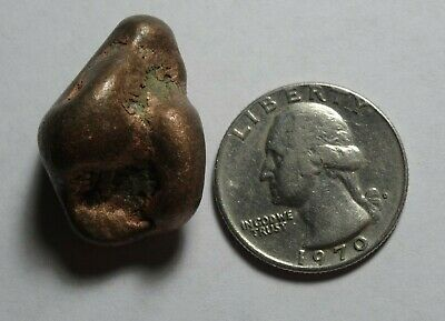1 COPPER NUGGET Tumbled, 32.7g MI USA