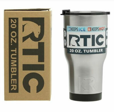 0d89b7fbaed RTIC 20oz Stainless Steel Tumbler 2017 model with 2017 spill proof lid -