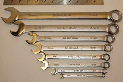 New Armstrong USA 8pc Long Pattern 6-25mm Combination Wrench set B