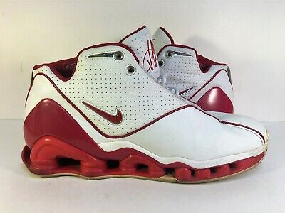big sale 50abc 1d8ee Nike Shox VC II Vince Carter White Red 2002 305078-161 Men s Size 11.5