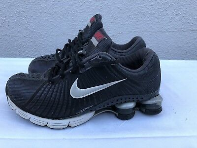 brand new 90e22 89860 Nike Air Shox Zoom Experience Women s US 5 Running Shoes Black Silver  318685-001