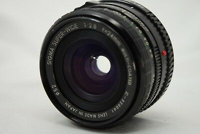 Sigma Super Wide 1:2.8 24mm Lens For Minolta *As Is* #EM20b