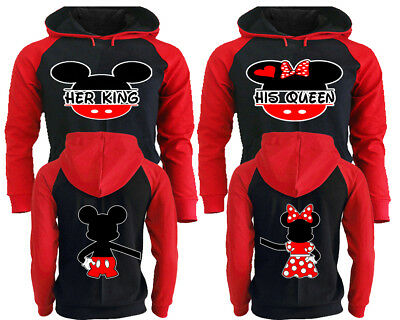 King And Queen Hoodies - Couple Hoodies His And Hers Sweatshirts Matching Hooded
