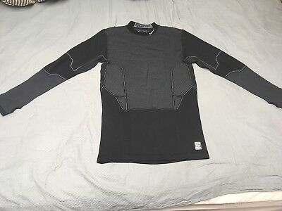 8353c57556 Nike Men s Dri-FIT Pro Combat Hyperwarm Flex Compression Shirt Black Asian  2XL(L
