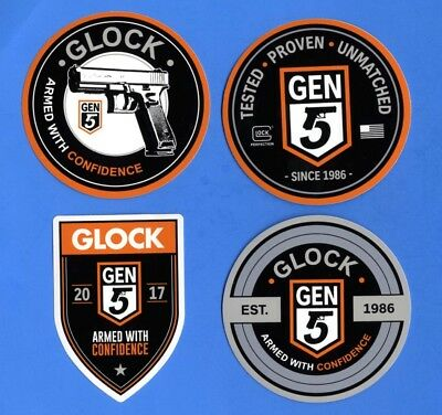 SHOT SHOW 2019 Lot of (4)  GLOCK Gen 5 Armed With Confidence Decal Stickers