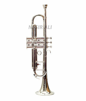 "NEW SCHOOL""TRUMPETS-BRAND Bb PRO SILVER MARCHING CONCERT BAND TRUMPET"