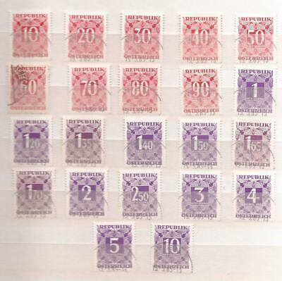 Osterreich ( Austria ) -  1949/57  -  Lot Of Postage Due Stamps