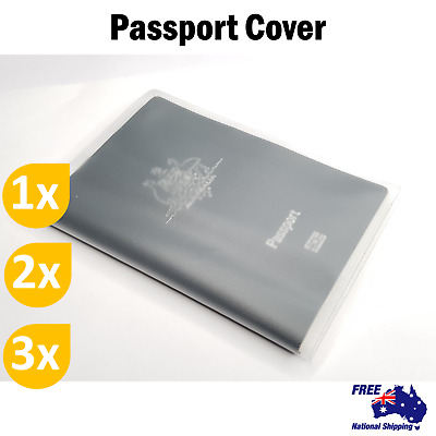 1x 2x 3x Passport Cover Transparent Protector Travel Clear Holder Wallet Case AU
