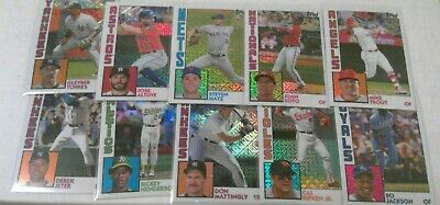 2019 Topps Series 1 Silver 1984 Complete Your Set You Pick Ur U Refractor Retro