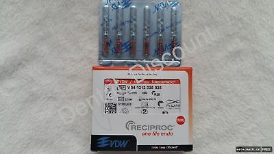VDW RECIPROC  Sterille File Endo M-WIRE 25mm  R25 6pcs/Pack NiTi-Files