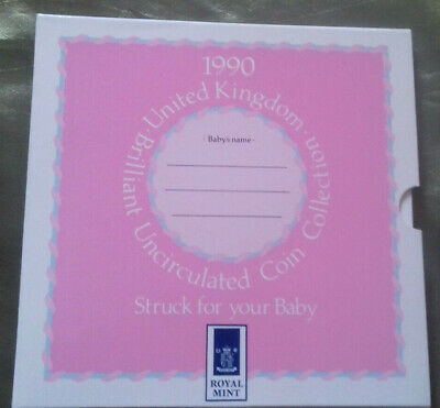 1990 UK Brilliant Uncirculated Coin Collectors Set Struck For Your Baby Girl