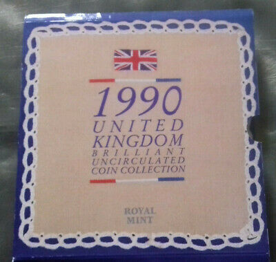 Uk Brilliant Uncirculated Coin Collection By The Royal Mint 1990