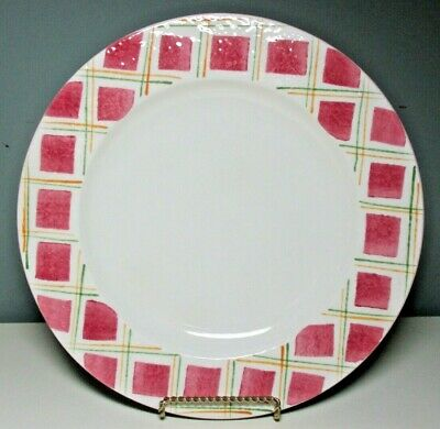 Euc Laurie Gates Los Angeles Pottery Covered Pie Dish Plate Pink