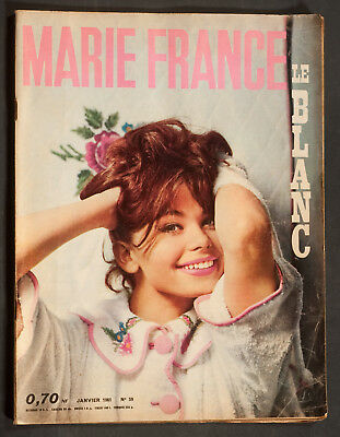 'marie-France' French Vintage Magazine January 1961