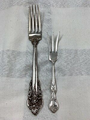 Wallace Grande Baroque Fork & Fisher Cocktail Fork in Sterling Silver