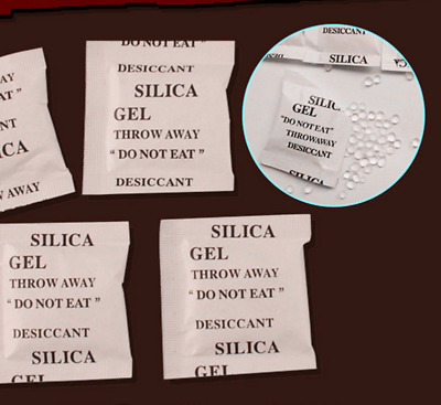 1g*50 security Packets of Silica Gel Sachets Desiccant Pouches Moisture Absorber