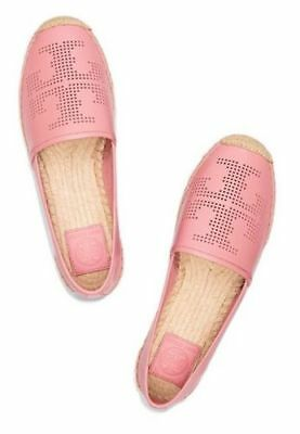 796e78ebe10b New Tory Burch Perforated Logo Flat Espadrille Women s Shoes - Size 10.5