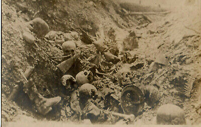 1917 WWI Photo Germans French Trench Battle of Verdun Authentic Graphic