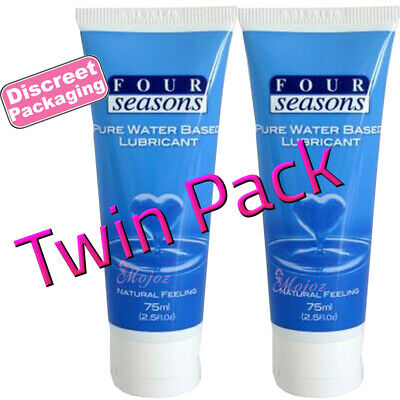2x Four Seasons Personal Sex Lubricant Lube Natural Feel Water Based Toy Safe