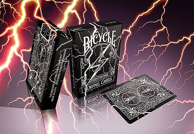 Bicycle Playing Cards Black Lightning Deck Rare Limited Professional Cardistry -