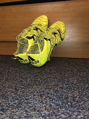 best sneakers 32c2f e3278 Adidas X15.1 FG AG Leather Soccer Cleats Men s Size 8 Yellow METAL STATS