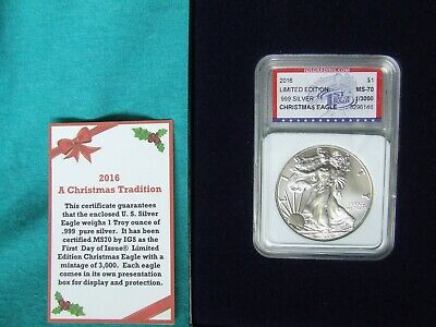 2016 Silver Eagle MS70 Limited Edition 1st Day