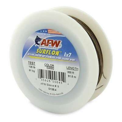 w15 American Fishing Wire Surflon Nylon Coated 1x7 Stainless Steel Leader Wire