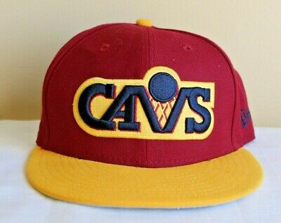 huge discount ece4e 421f8 Vintage New Era Cleveland CAVALIERS CAVS NBA 9Fifty Embroidered Snapback Hat
