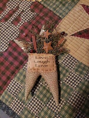 """~*Awesome~* Primitive  """"LIVE,LAUGH,LOVE Hanging Star"""" ! Oh My!"""