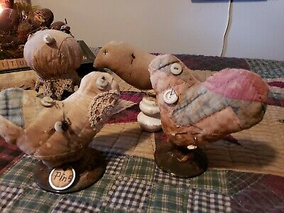 "~*Awesome~* Primitive  ""4"" Pin Cushions"" ! Oh My! LAST SET!!"