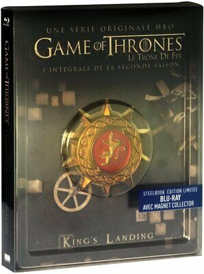 Game of Thrones Staffel 2 Steelbook + Magnet - Deutscher Ton - 5 Blu-ray Box NEU