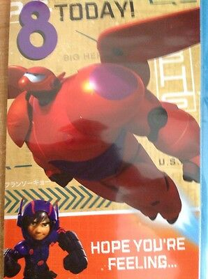 Clintons Disney Big Hero 6 Birthday 8 8th Card Fast Deliver