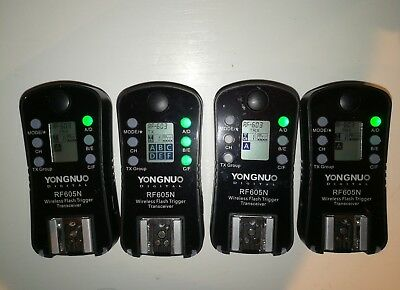 4 pieces of Yongnuo rf-605n rf605n for Nikon wireless flash trigger transceiver