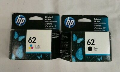 NEW HP 62 Combo 2 Pack Ink Cartridges Black and Color GENUINE OEM
