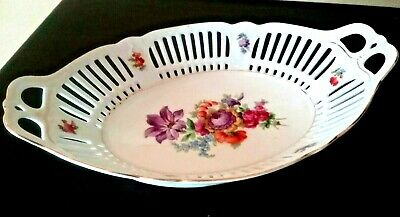 Beautiful VINTAGE reticulated china Schumann serving bowl from Bavaria Germany