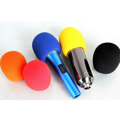 5Pcs Wireless Microphone Windscreen Foam Mic Cover Sponge Pop Filter Wind Shield