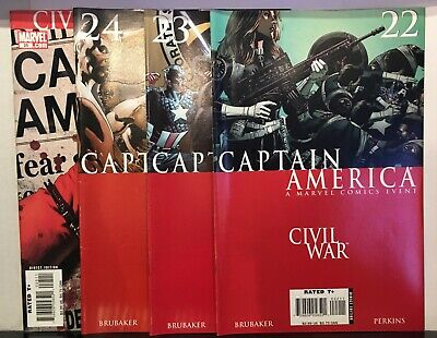 Captain America #22-25 Civil War Run VF+ 1st Print Marvel Comics