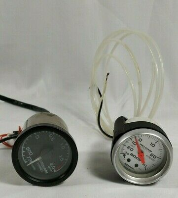 Lot of Greddy Electronic boost gauge-And Autometer 4303 Ultra-Lite  Boost Gauge