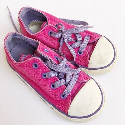 647ee4cff34d CONVERSE ALL STAR Toddler Kids Pink Shoes Low Top Chuck Taylor Girls ...