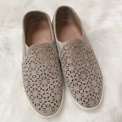 b3ed63df1593 SZ 8-8.5 NEW TORY BURCH Jesse perforated suede sneaker navy sea ...
