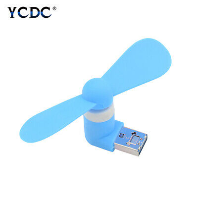 2-in-1 mini cooling usb fan silent cooler for android v8 devices power bank EB7