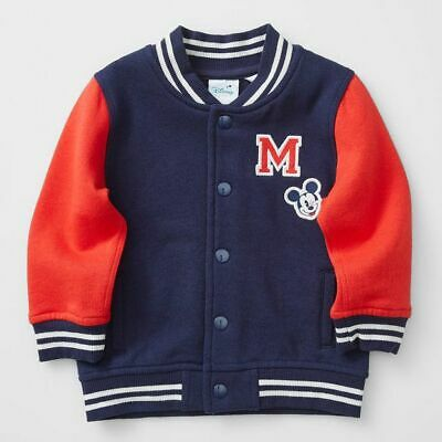 NEW Disney Baby Mickey Mouse Letterman Jacket